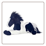 "Star Black and White Paint Horse Flopsie 12"" by Aurora"