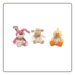"Polka Dotties 4.5"" Spring and Easter Sound Animals by Gund"