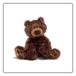 "Philbin Chocolate Bear 13"" by Gund"