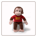 "Curious George Take a Long 15"" by Gund"