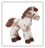 "Stoney Brown and White Appaloosa Horse 9"" by Douglas"