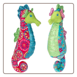 "Print Pizzazz Coral Seahorse - 12"" by Mary Meyer"