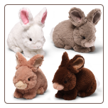 "Wispers Bunnies 10"" by Gund"