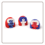 "Americana Red White and Blue Ganley Hedgehog 3"" by Gund"