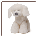 "Fluffey Puppy Medium Cream 10"" by Gund"