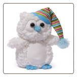 "Snowfall White Owl 8"" by Gund"