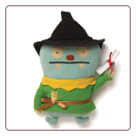 "Wizard of Oz Scarecrow Jeero 12"" Uglydoll by Pretty Ugly"