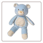 "Thready Teddy Blue Plush Bear 11"" by Mary Meyer"