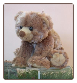 "Sally Standing Brown Bear 8"" by Wishpets"