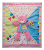 "Kitty Activity Blanket 18"" by Douglas"