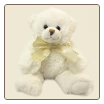 "Wishpets 7"" Sitting Potsy Bear WHITE"