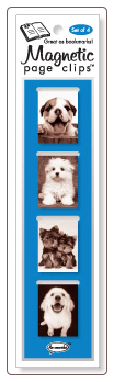 Happy Puppy Mini Photo Magnetic Page Clips Set of 4 by Re-marks