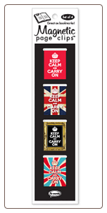 Keep Calm and Carry On Illustrated Magnetic Page Clips Set of 4 by Re-marks