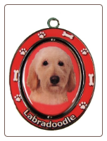 Yellow Labradoodle Spinning Dog Key Chain by E and S Imports