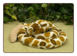 "Curling Rattlesnake With Rattle 47"" by Wishpets"