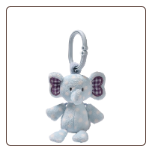 "Evert Elephant Rattle 6"" by Gund"
