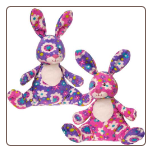 "Print Pizzazz Gardenia Bunny- 8"" by Mary Meyer"
