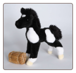 "Runner Black and White Foal 10"" by Douglas"