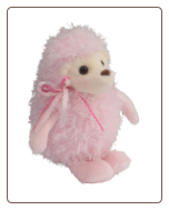 "Chantel Pink Puff Hedgehog 6"" by Douglas"
