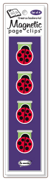 Ladybug Illustrated Magnetic Page Clips Set of 4 by Re-marks