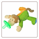"Mango Monkey WubbaNub Pacifier 6"" by Mary Meyer"
