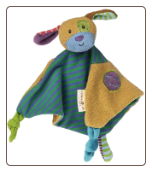 "You Are Loved Puppy Character Blanket - 9"" by Mary Meyer"