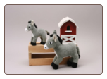 "Grey Donkey Burro 12"" by Unipak"