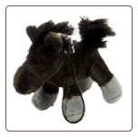 "Keitai Dark Grey Horse Keychain 2"" by Wild Republic"