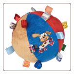 "TAGGIES Buddy Dog Chime Ball 7"" by Mary Meyer"