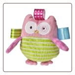 "TAGGIES Oodles Owl Rattle 4.5"" by Mary Meyer"