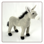 "Standing Gray Donkey 11"" by Wishpets"