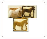 "Standing 3D Horse Pillow 13"" by Wishpets"