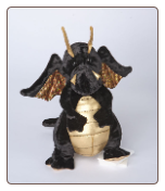 "Merlin Black and Gold Dragon 9"" by Douglas"