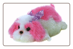 "Maddy Pink and White Flopsie Dog 12"" by Aurora"