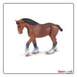 "Winner's Circle Clydesdale Mare Figure 6"" by Safari Ltd"