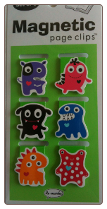 Monsters Mini Illustrated Page Clips Set of 6 by Re-marks