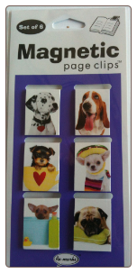 Puppies Mini Photo Magnetic Page Clips Set of 6 by Re-marks