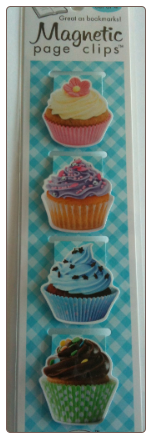 Cupcakes Magnetic Page Clips Set of 4 by Re-marks