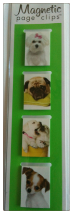 Puppies Mini Photo Magnetic Page Clips Set of 4 by Re-marks