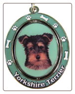 Yorkshire Terrier Puppy Spinning Dog Key Chain by E and S Imports