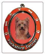 Yorkshire Terrier Spinning Dog Key Chain by E and S Imports