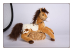 "Glisten Golden Appaloosa Horse 16"" by Douglas"