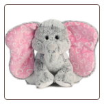 "Lots of Love Gray Elephant- Medium 10"" by Aurora"