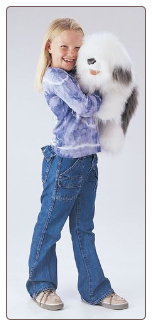 "Sheepdog Hand Puppet 22"" by Folkmanis"