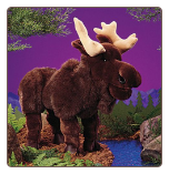 "Moose Hand Puppet 20"" by Folkmanis"