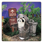 "Raccoon in Garbage Can Hand Puppet 8"" by Folkmanis"