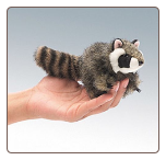 "Mini Raccoon Finger Puppet 5"" by Folkmanis"