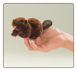 Mini Beaver Finger Puppet by Folkmanis