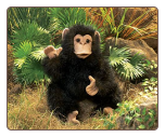 "Baby Chimpanzee Hand Puppet 15"" by Folkmanis"