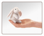 "Mini Lop Eared Rabbit Finger Puppet 4"" by Folkmanis"